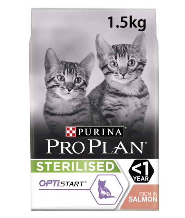 Purina Pro Plan Sterilised Kitten - корм Про План для стерилизованных котят 1,5 кг